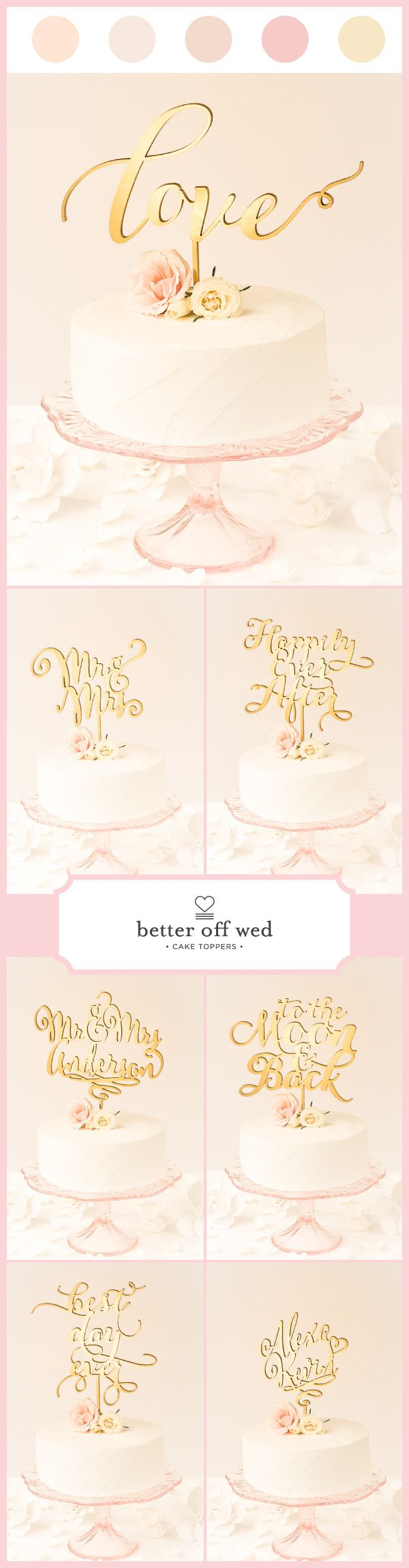 If you thought you didn't want a cake topper, @betteroffwed will change your mind! www.betteroffwed.co