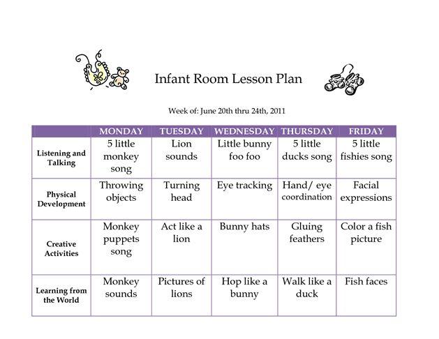 JUNE 2011 Infant Curriculum - Westlake Childcare