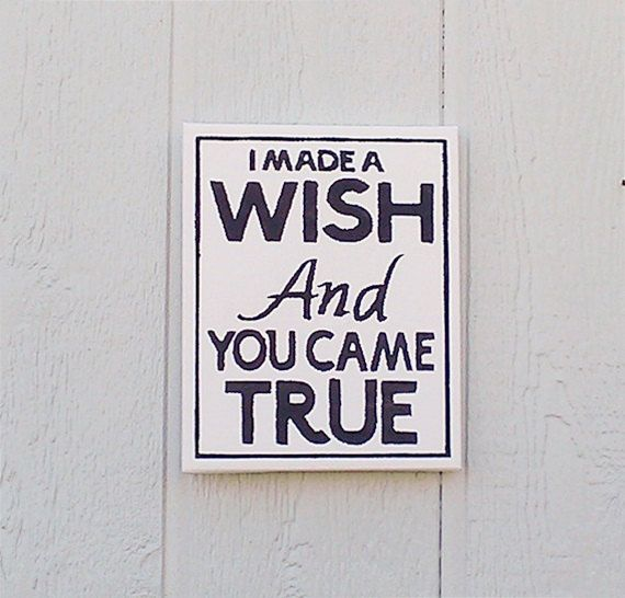 I Made A Wish Sign Hand Painted Canvas Baby Room by RedBarnSignCo, $25.00