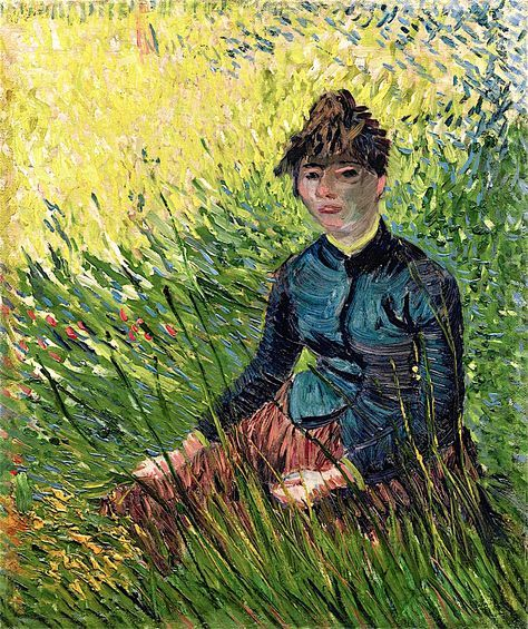 The Athenaeum - Woman Sitting in the Grass (Vincent van Gogh - )