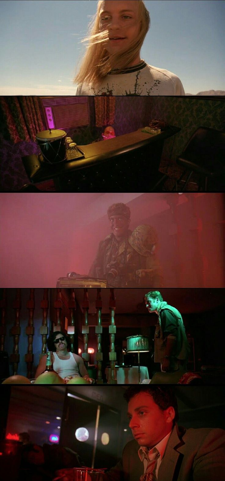 Fear and Loathing in Las Vegas (1998) Directed by Terry Gilliam. Cinematography by Nicola Pecorini #FilmmakingTricks