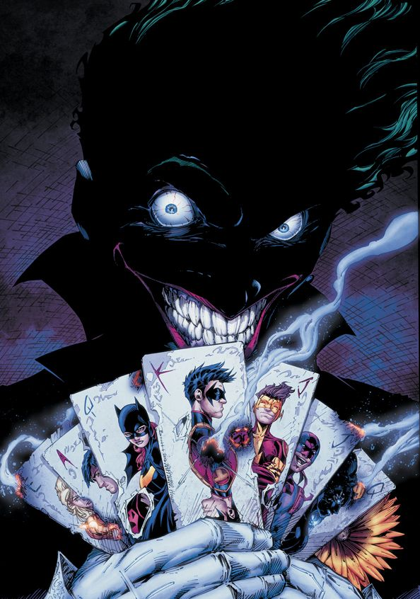 Joker in Teen Titans #15  The clown prince wrecking havoc. @brentrager5
