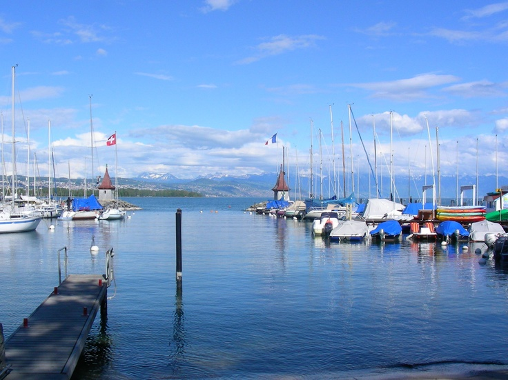View from Morges towards Lausanne
