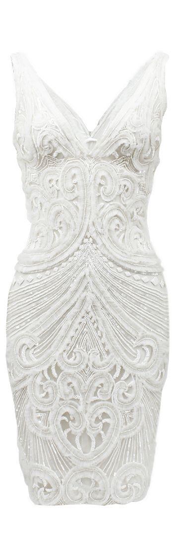 Best 25  White beaded dress ideas on Pinterest   Chapel wedding ...