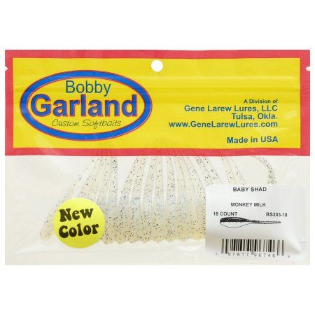 Bobby Garland 2 inch Baby Shad Crappie Baits - Monkey Milk, Multicolor
