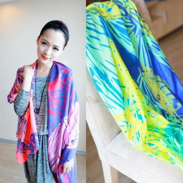 Multicolour ultra long neon color scarf £12.50 each