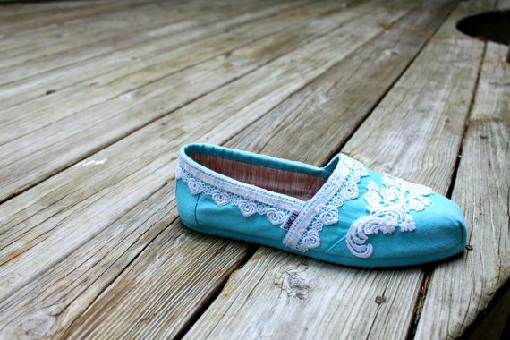 Wedding TOMS   Lace TOMS  Custom TOMS by TheCrystalSlipper on Etsy, $140.00