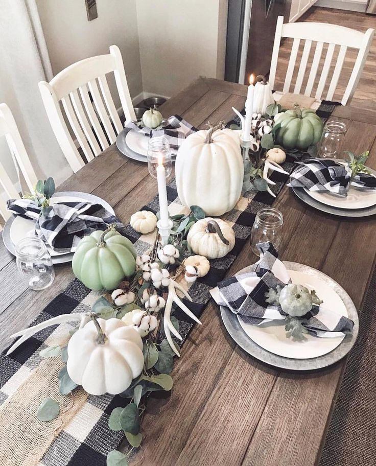 It S Fall Yall Look At This Tablescape I M Really Feeling Buffalo Home Decor Fall Dining Table Decor Fall Decor Dollar Tree Fall Table Decor