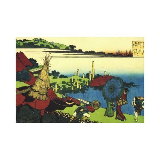Japanese wall art is incredibly beautiful especially anything that has geishas, cherry blossoms, japanese friendship gardens and bridges.  I particularly love some of the japanese wall fans and other oriental wall art available.  Traditional Japanese Art: Lovers In Bay of Naniwa Canvas Print