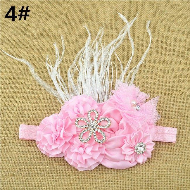 Атлас лента своими руками цветок горный хрусталь hairband девочка принцесса кружево роза цветок повязка на голову 16 шт / много