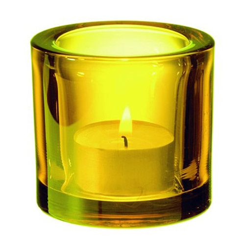 iittala Kivi Candle Holder - Yellow $50.00  #pintofinn