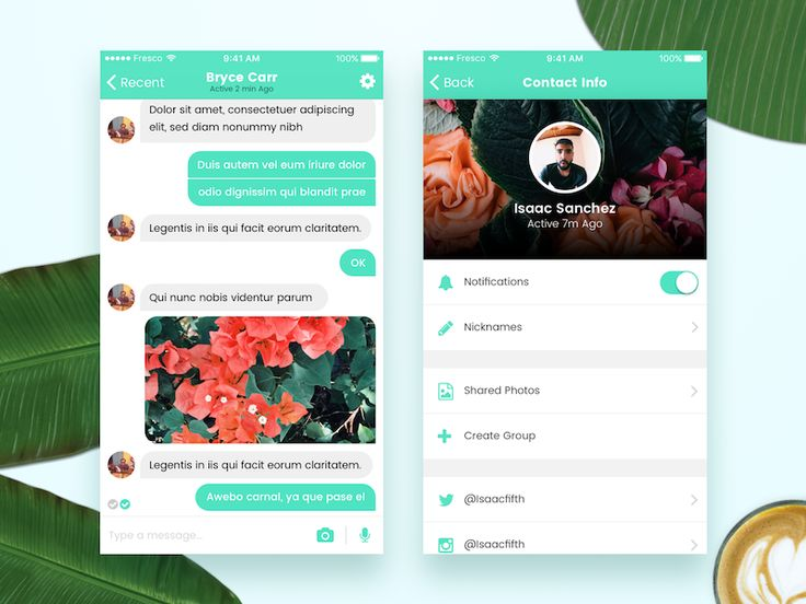 Fresco UI - Messaging App