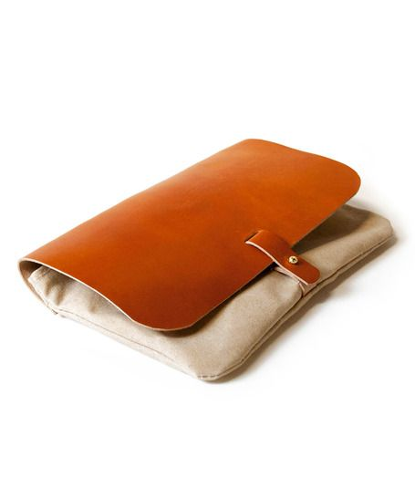 Canvas + Leather Clutch Purse