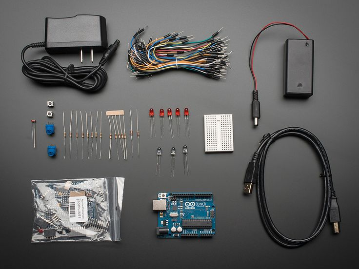 Starter pack for arduino includes uno r