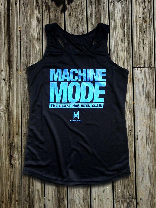 Machine Mode™ Ladies Vest - (Black) | Machine Fitness - Gym Wear, Bodybuilding Clothes, Apparel & Fitness Clothing UK.