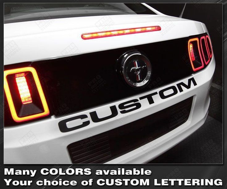 Ford Mustang 2005-2014 Rear Deck Lettering Decal