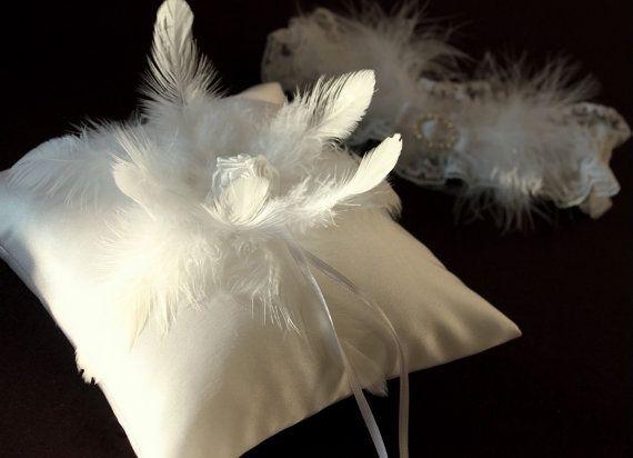 feather ring bearer white ring bearer pillow feather ring pillow white ring bearer & 16 best Wedding Ring Bearer Pillows ETSY images on Pinterest ... pillowsntoast.com