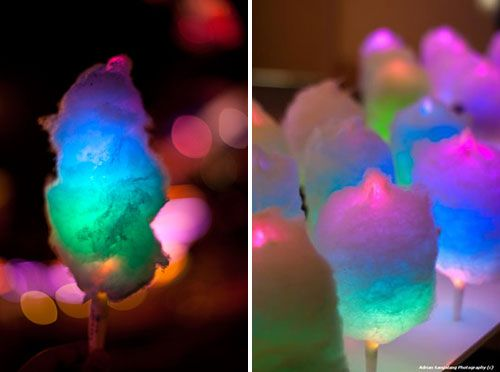 Glowing Cotton Candy... Perfect for a wedding or a summertime party :)