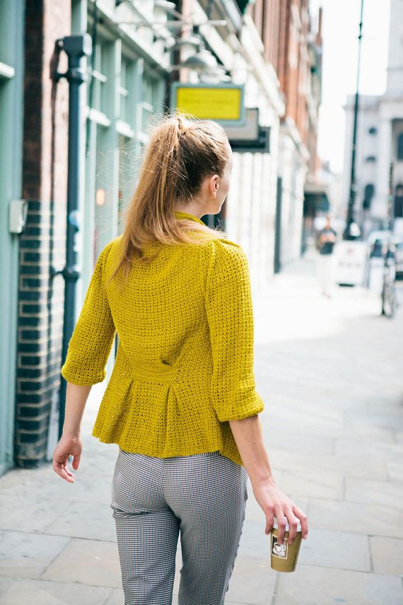 PDF Pattern for Pleated Cardigan  UK and US by KatGoldinDesigns, £3.50
