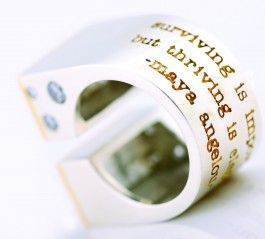 Split Rectangular Ring- Hilliard Design @HalfmoonYoga