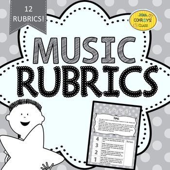 These music rubrics are great for informal assessments during circle games and while singing songs!