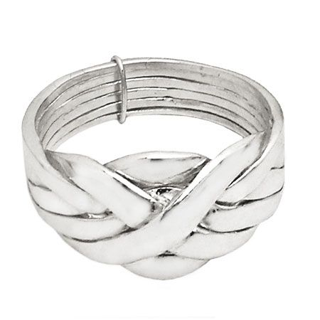 Turkish wedding Ring in silver with six bands