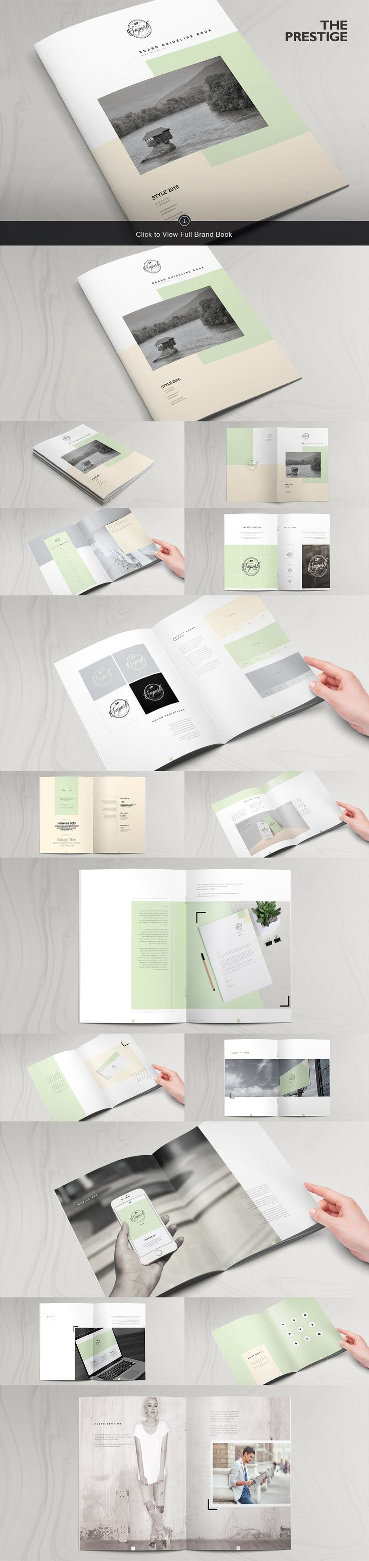 15 Brand Guidelines Templates Bundle by ZippyPixels on @creativemarket #ad
