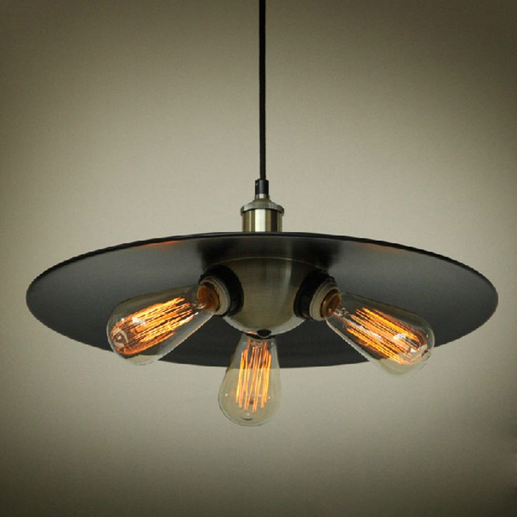 Industrial Edison Pendant Light: Industrial Edison Mini Metal Pendant Light 3 Lights