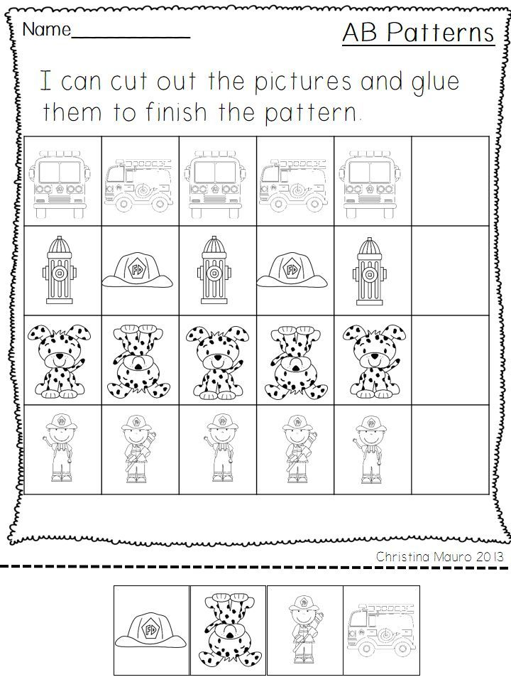 Best A B Patterns Images On   Preschool Math Math