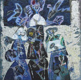 Mosaico   Joze Ciuha _ mosaicista Luciano Petris