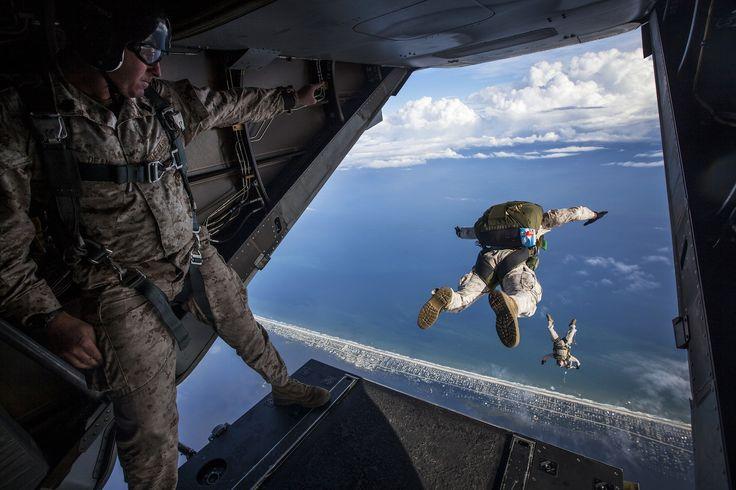 paracaídas, salto, ejército, aéreo, riesgo - Fondos de Pantalla HD - professor-falken.com