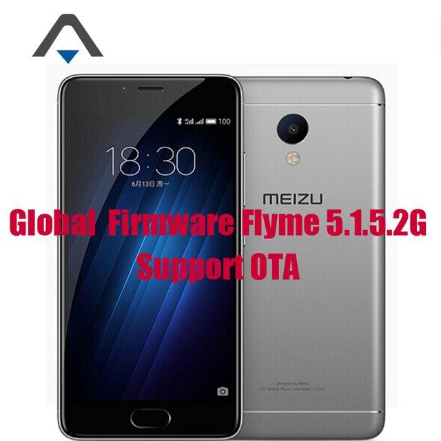 "Original Meizu M3S Mini 4G LTE Mobile Phone 5.0"" 2.5D Glass MT6750 Octa Core 3GB RAM 32GB ROM 13.0MP 3020mAh GPS Fingerprint ID"