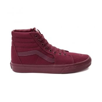 Vans Sk8 Hi Skate Shoe Burgundy/Mono Womens Shoes Online Sale