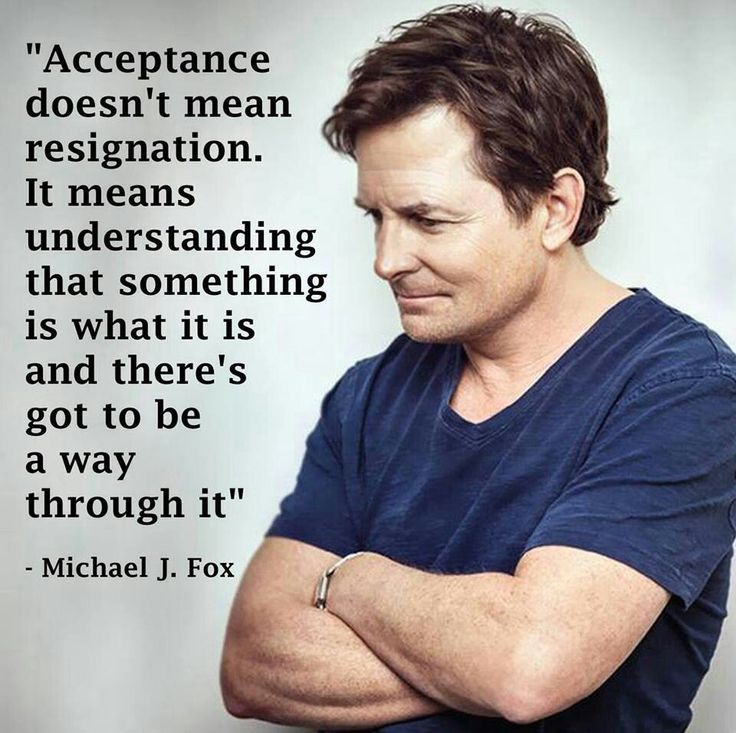 Michael J. Fox quote. / living with chronic illness / inspiration and hope