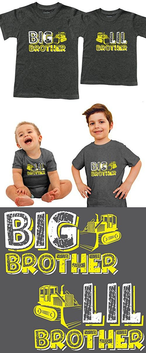 Big Brother Shirt Est 2018 Toddler, Includes Gray Size 4 and 3-6 mo