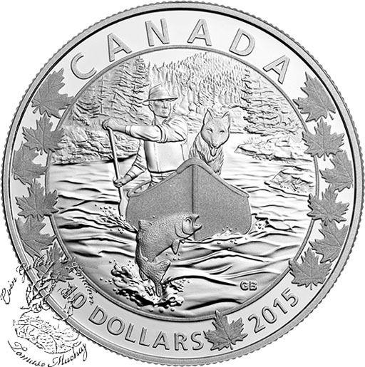 Coin Gallery London Store - Canada: 2015 $10 Canoe Across Canada: Splendid Surroundings Silver Coin, $44.95