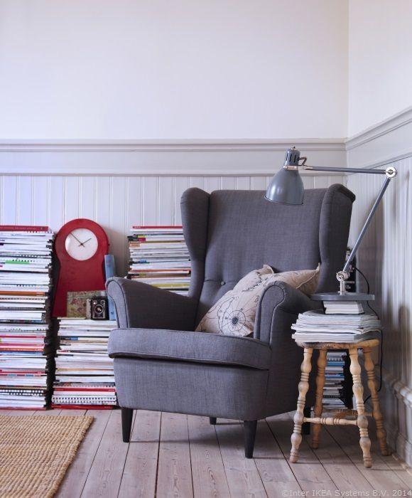 Când cei mici sunt la nani, meriți un loc unde să citești în liniște www.IKEA.ro/fotoliu_STRANDMON