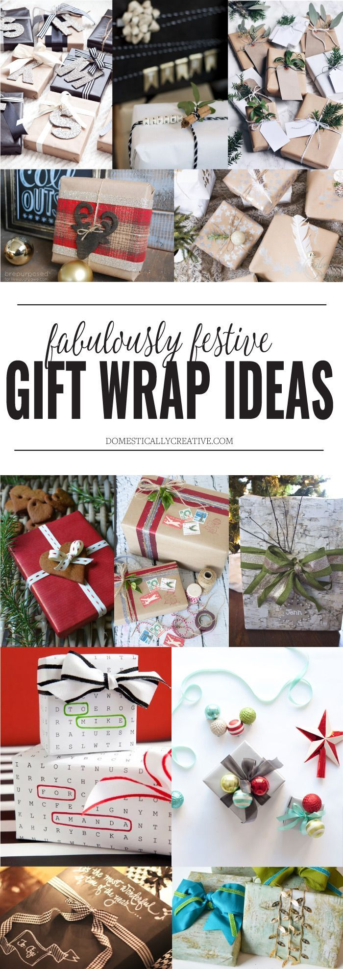 12 Fabulously Festive Gift Wrapping Ideas #christmasgiftwrap #christmasgift #giftwrap #christmaspresents