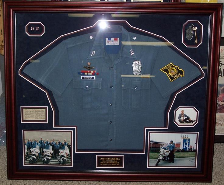 Police Uniform Keys Badges Framed By Wallstars Custom