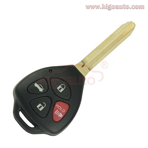 HYQ12BBY Remote key 4 button TOY43 315Mhz for Toyota Camry Corolla 2009 2010