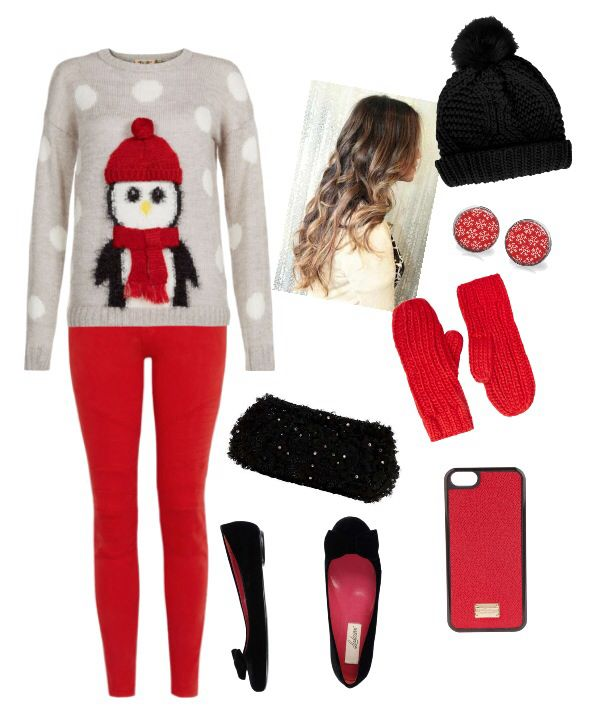 I would go for my little oversized christmas sweater, black leggins instead  of bright red jeans | Outfits | Pinterest | Outfits, Cute christmas outfits  and ... - I Would Go For My Little Oversized Christmas Sweater, Black Leggins