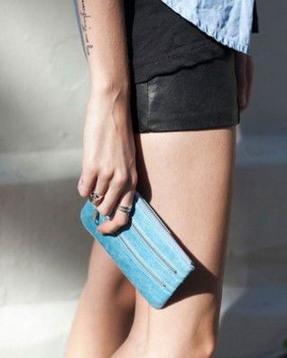 Status Anxiety Molly in Sky Blue - Bags & Clutches - Accessories - Birdmotel Online Store