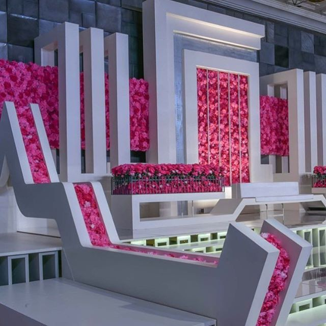 120 best kosha wedding stage images on pinterest wedding breathtaking view of this modern water wall designed for a wedding by junglespirit Choice Image