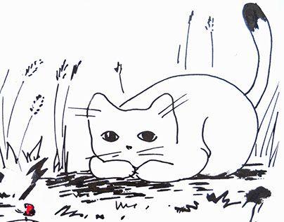 Ознакомьтесь с моим проектом в @Behance: «Нарисованные коты» https://www.behance.net/gallery/28179779/narisovannye-koty