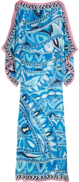 PUCCI Printed Silk-chiffon Kaftan - Lyst