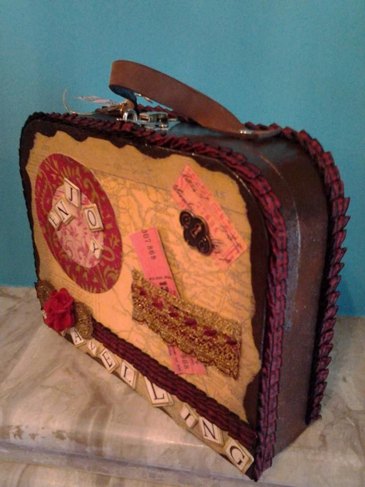 small suitcase hand made by Erifili