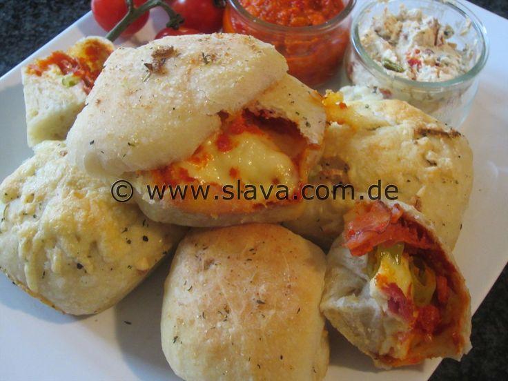 Gefüllte Pizza-Brötchen « kochen & backen leicht gemacht mit Schritt für Schritt Bilder von & mit Slava