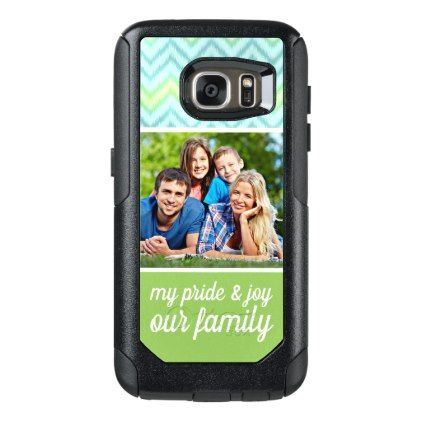 Custom Text Photo Artsy Trendy Hip Zig Zag Pattern OtterBox Samsung Galaxy S7 Case - fun gifts funny diy customize personal