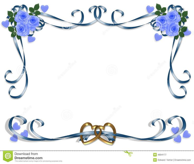 Wedding And Certificate Floral Border Border Clipart: Blue Wedding Borders Clipart