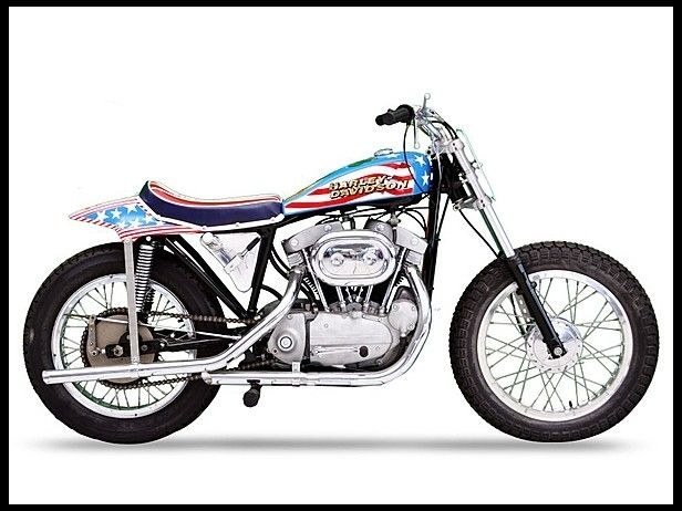 Famous Evel Knievel Bike At Auction: 1970 Harley-Davidson Evel Knievel Tribute #Mecum #LasVegas